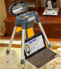 Niton XL2 precious metal analyzer in mobile test stand with PC
