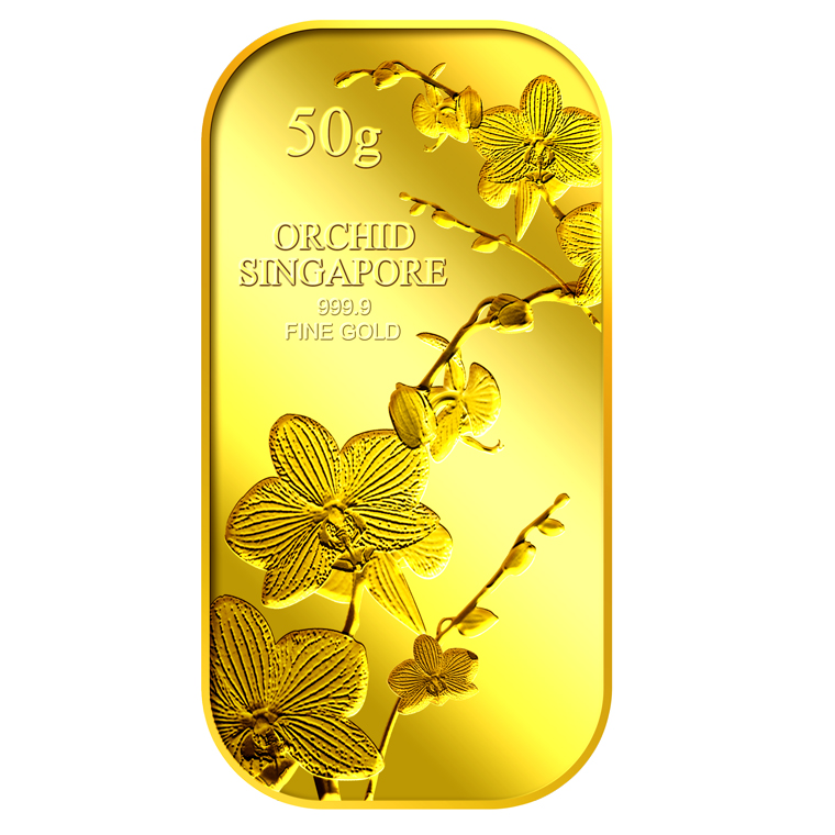50g SG Orchid (Series 1) Gold Bar