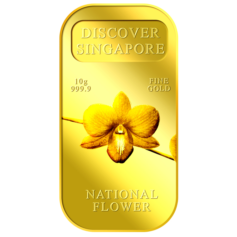 10g SG National Flower Gold Bar