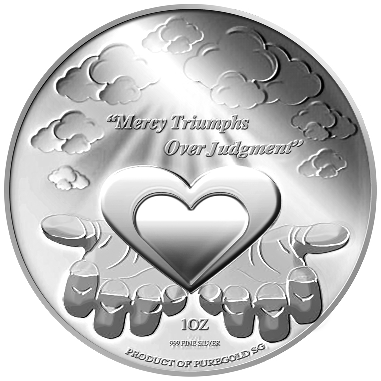 1oz Mercy Triumphs Over Judgment Silver Medallion (3RD LAUNCH)