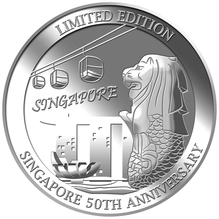 1oz SG 50th Cable Car (SERIES 2) Silver Medallion (YEAR 2015)