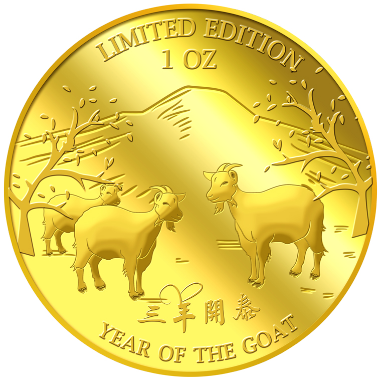 1oz Golden Goat Gold Medallion