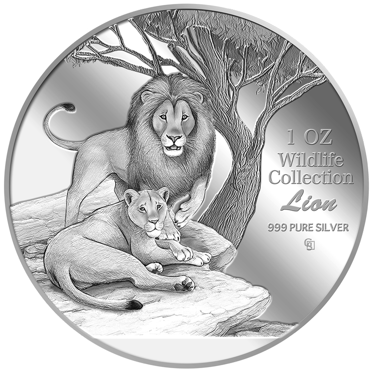 1oz Lion Silver Medallion