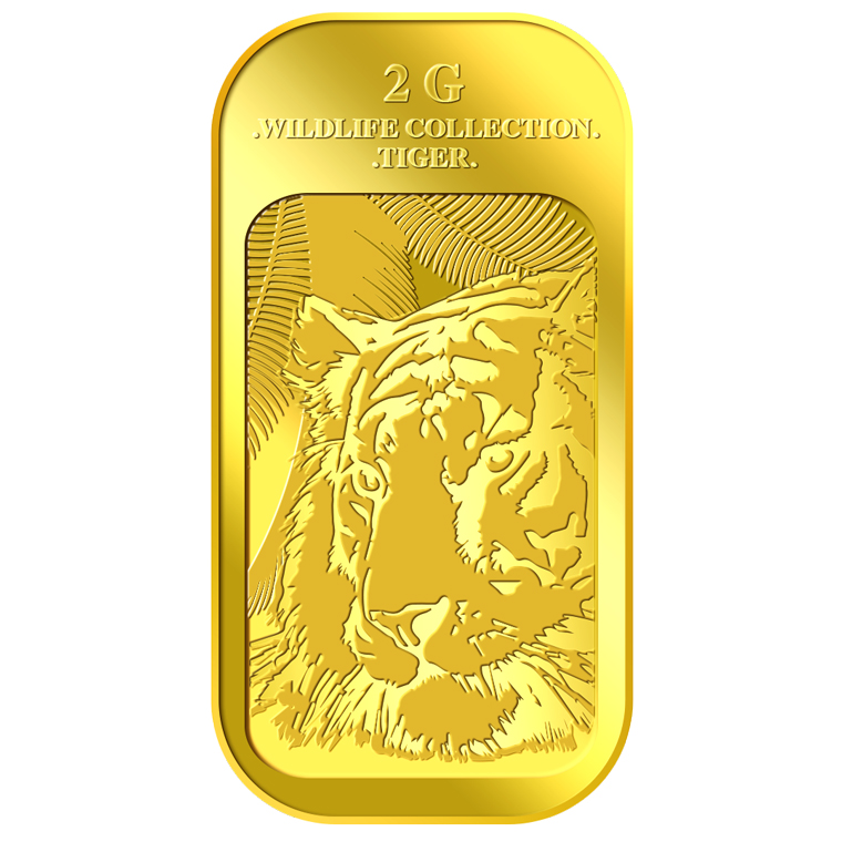 2g Tiger Gold Bar