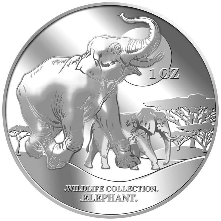 1oz Elephant Silver Coin