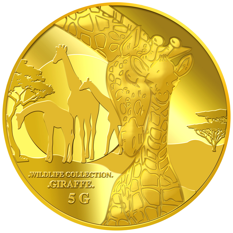 5g Giraffe (Mother & Son) Gold Coin