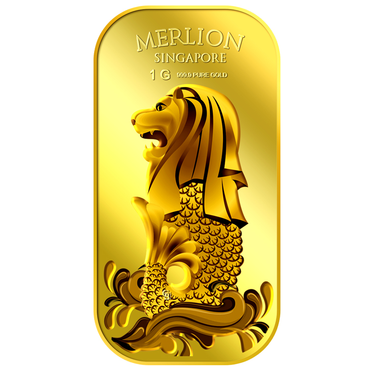1g SG Merlion Sea Gold Bar