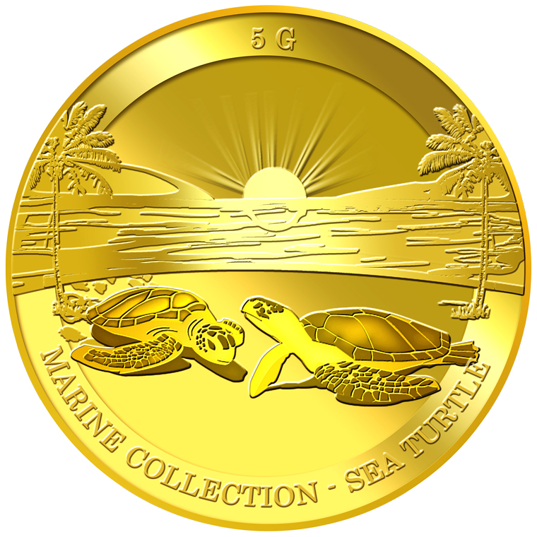 5g Sea Turtle Gold Coin