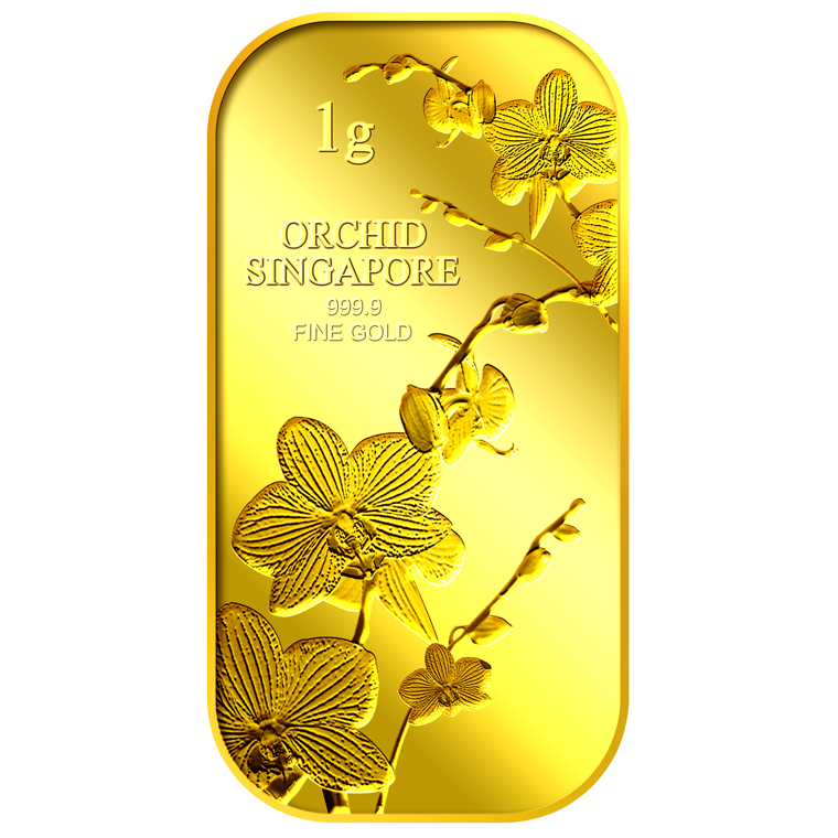 1g SG Orchid (Series 1) Gold Bar