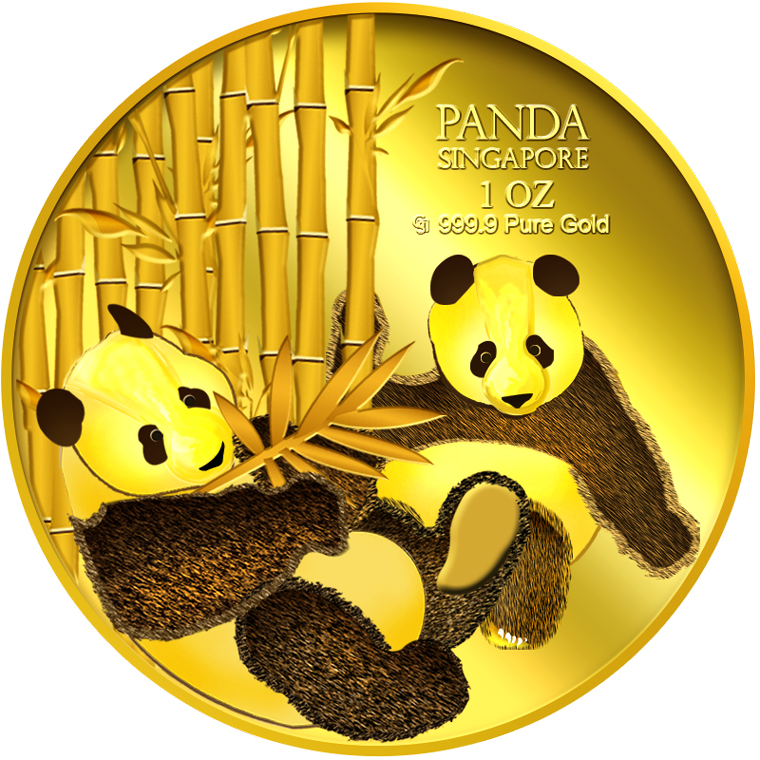 1oz SG Giant Panda (Series 2) Gold Medallion