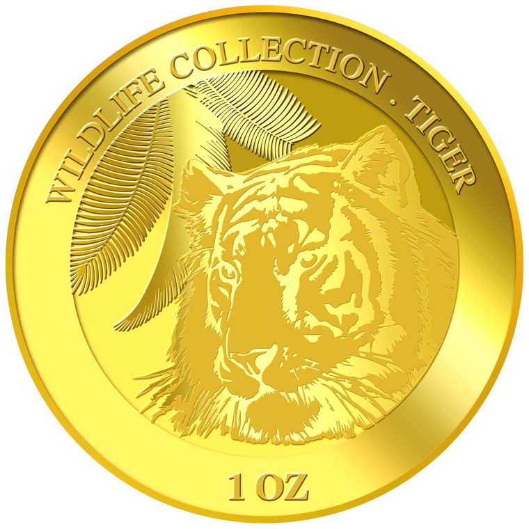 1oz Tiger Gold Medallion