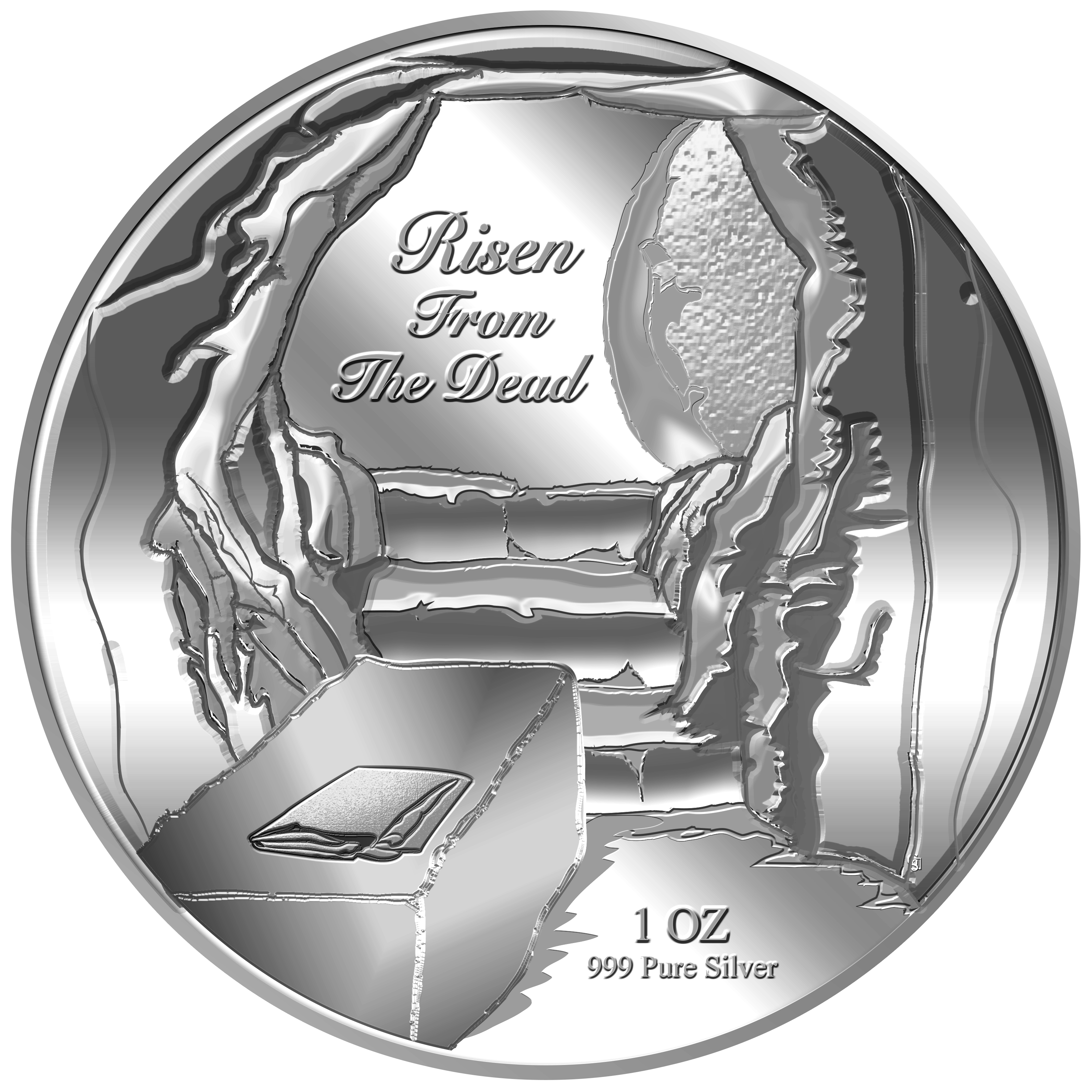 1oz Risen From The Dead Silver Coin (10TH LAUNCH)