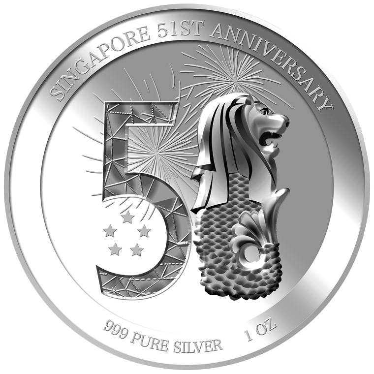 1oz 51st Anniversary Silver Coin (YEAR 2016)