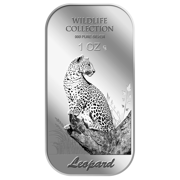 1oz Leopard Silver Bar