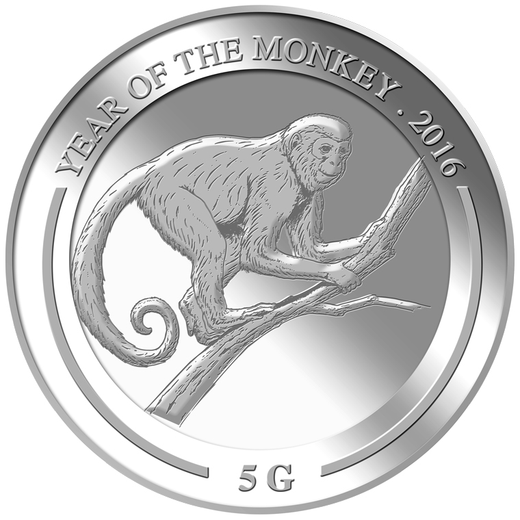 5g Monkey Silver Coin