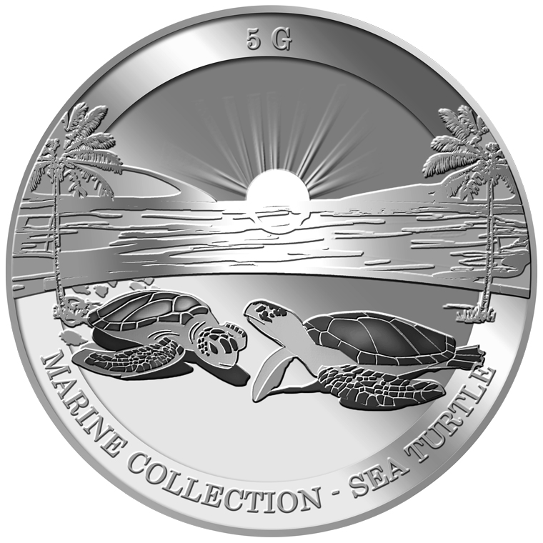 5g Sea Turtle Silver Coin