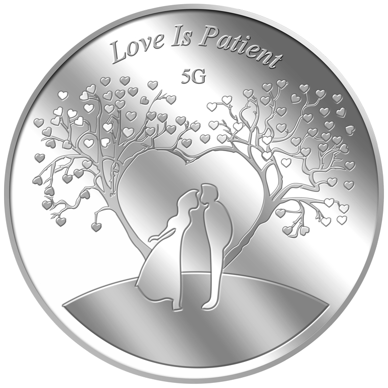 5g Love is Patient Silver Coin