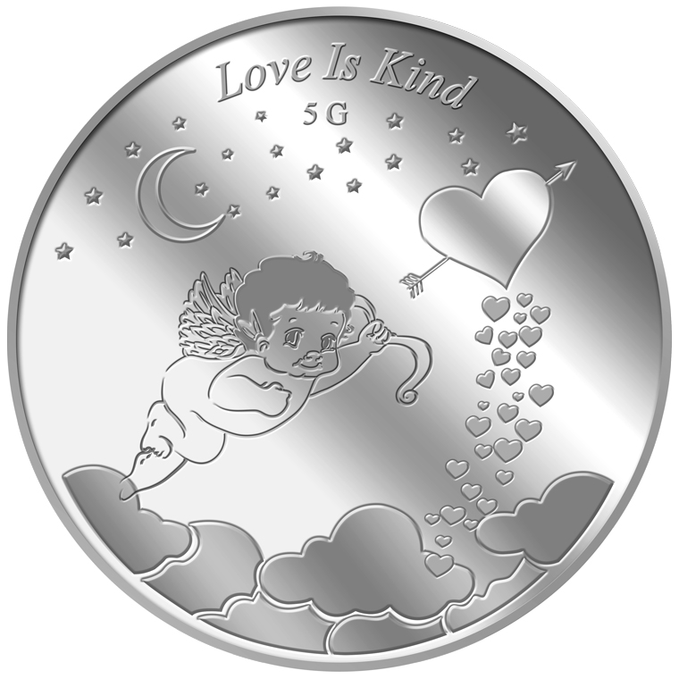5g Love is Kind Silver Medallion