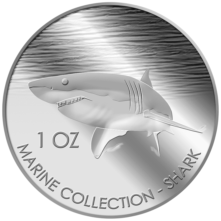 1oz Shark Silver Coin