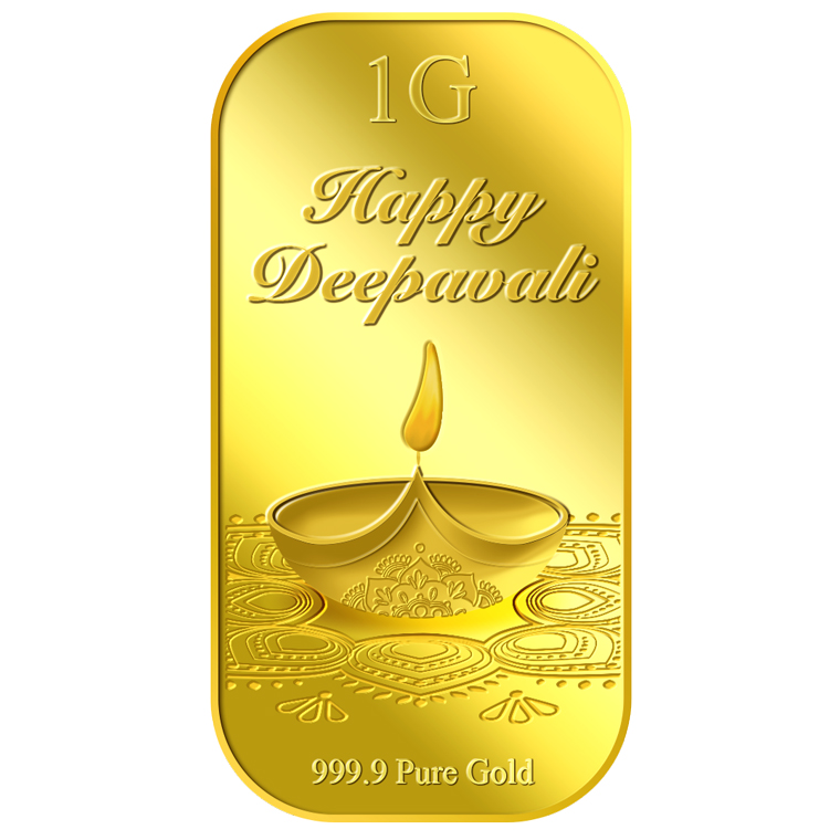 1g 2017 Deepavali Diwali Lamp Gold Bar
