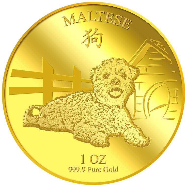 1oz Maltese Gold Medallion