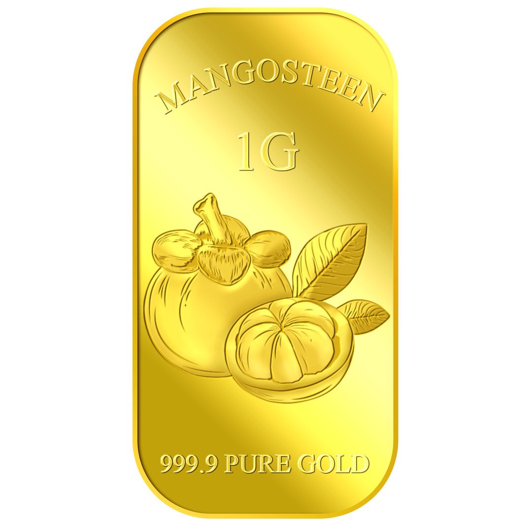 1g Queen of Fruits Mangosteen Gold Bar