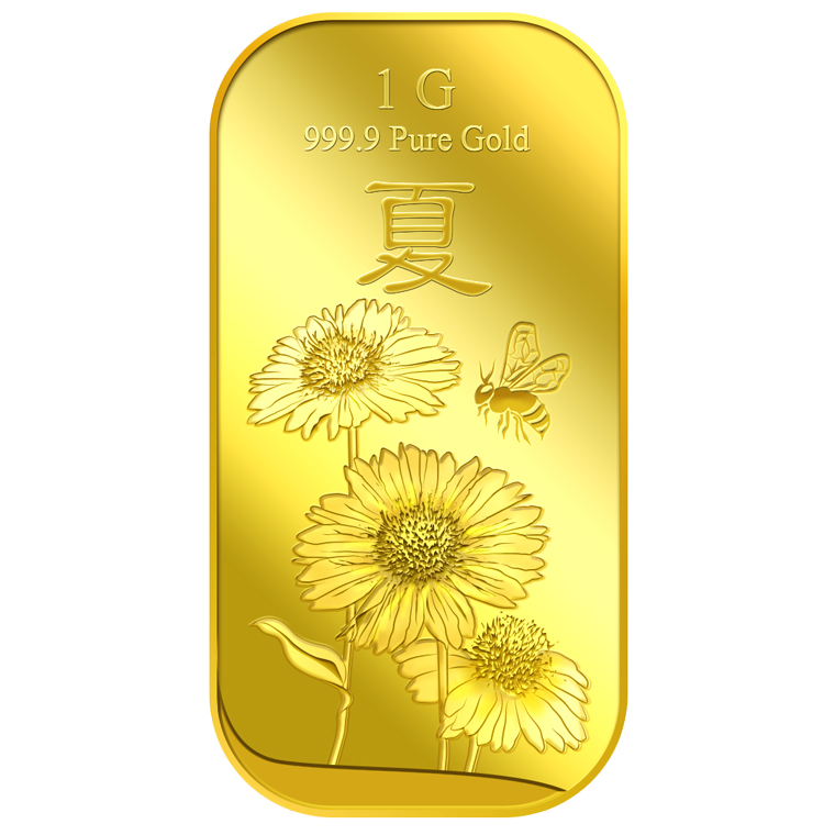 1g 2018 Summer Gold Bar