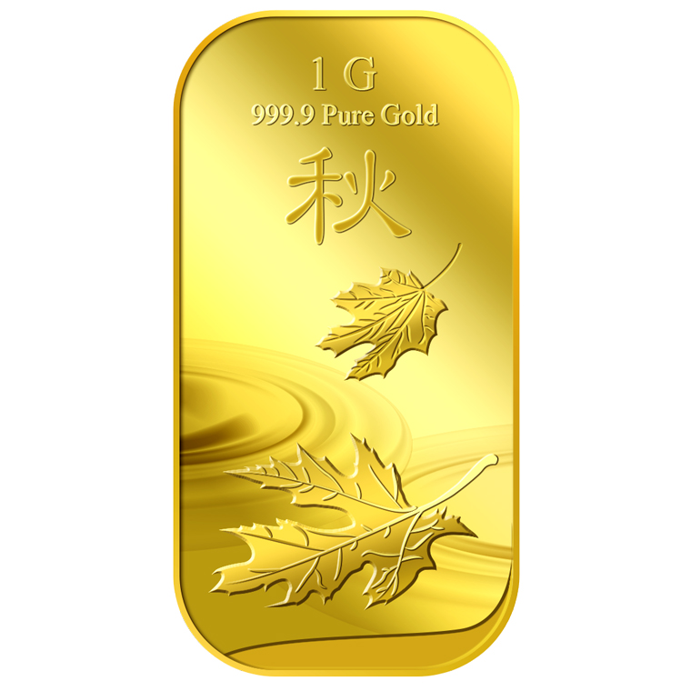 1g 2018 Autumn Gold Bar