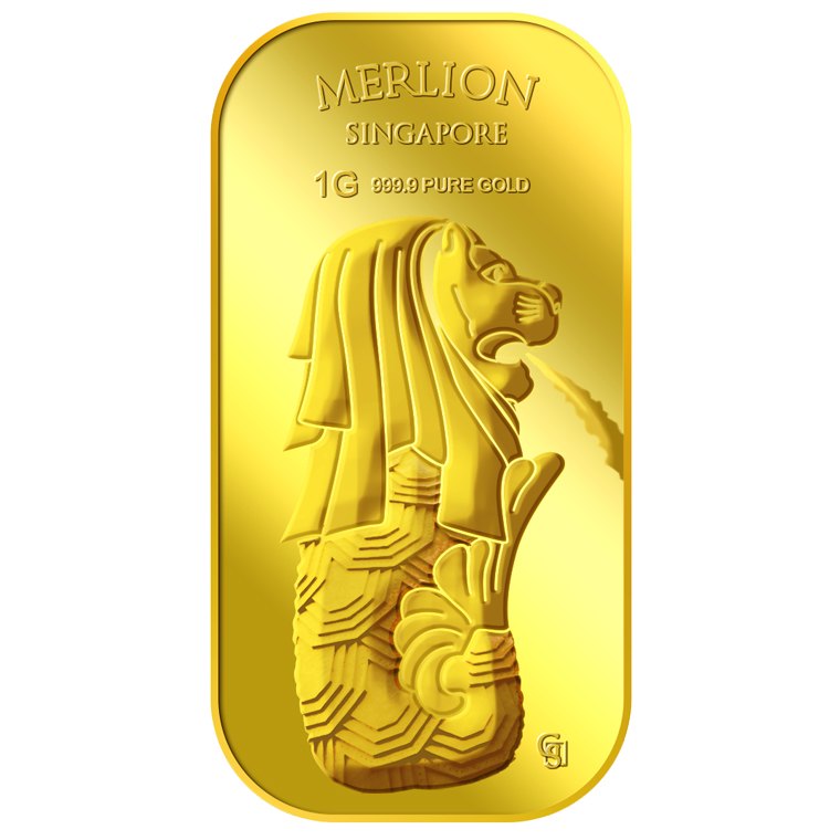 1g SG Merlion Fountain Gold Bar (Coming Soon)