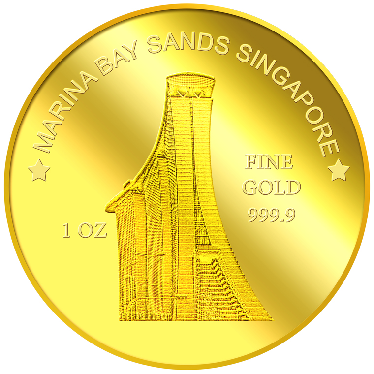 1oz SG Marina Bay Sands Gold Coin
