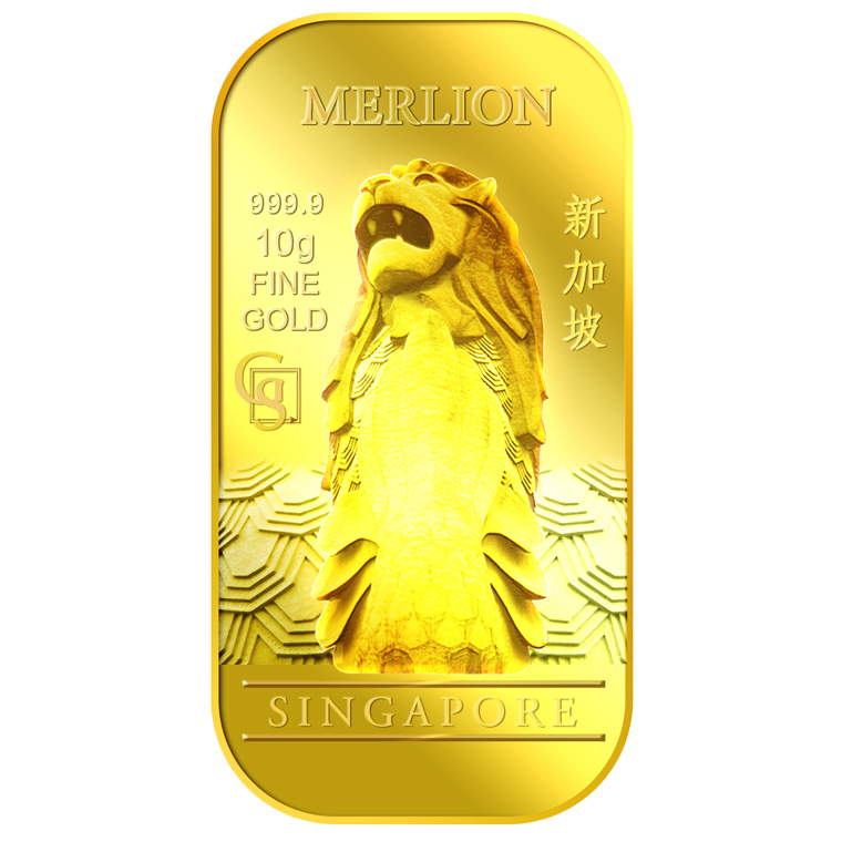 10g SG Merlion Classic Gold Bar
